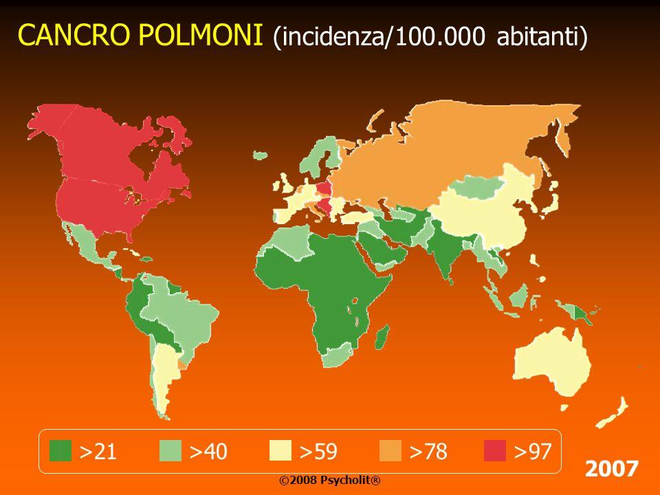 DISCONTINUITA' GEOGRAFICA Il cancro si distribuisce nella popolazione mondiale in maniera macroscopicamente disomogenea. In prossimità di zone ad elev
