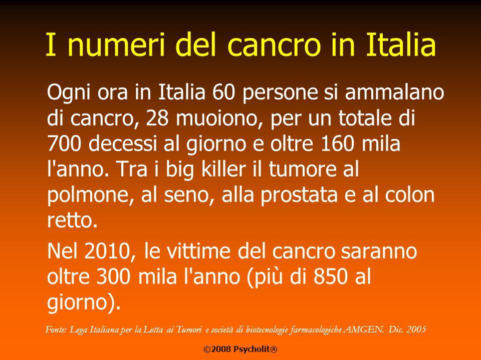 IL CANCRO IN EUROPA Oltre 3 milioni di nuovi casi di tumore previsti nel 2008, il 56% dei quali colpirà gli uomini. Oltre 2 milioni saranno i decessi
