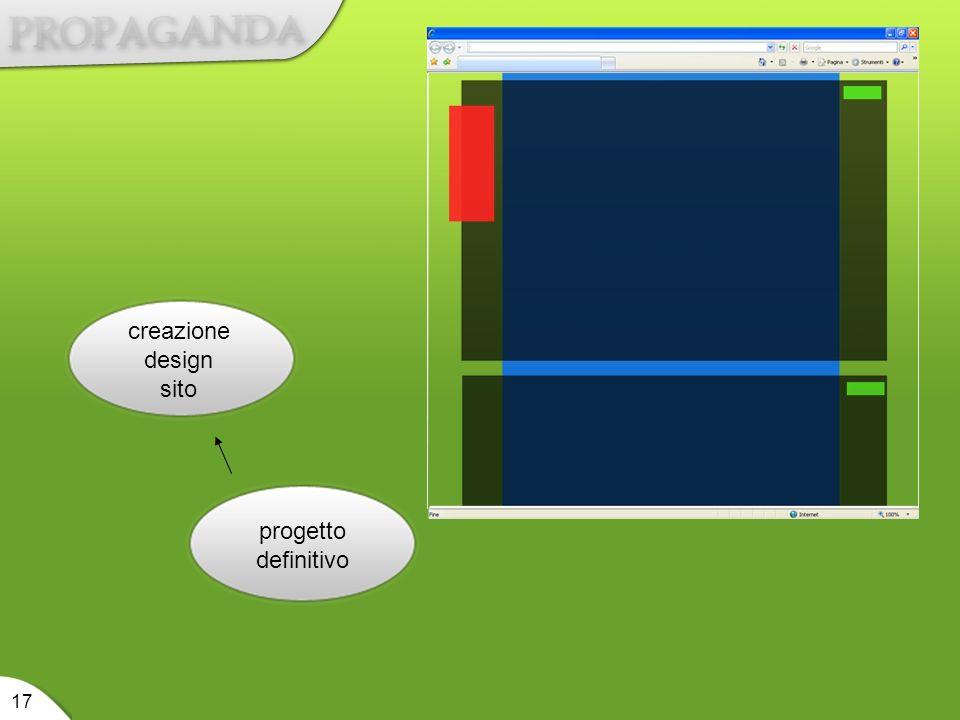 progetto definitivo creazione design sito 17