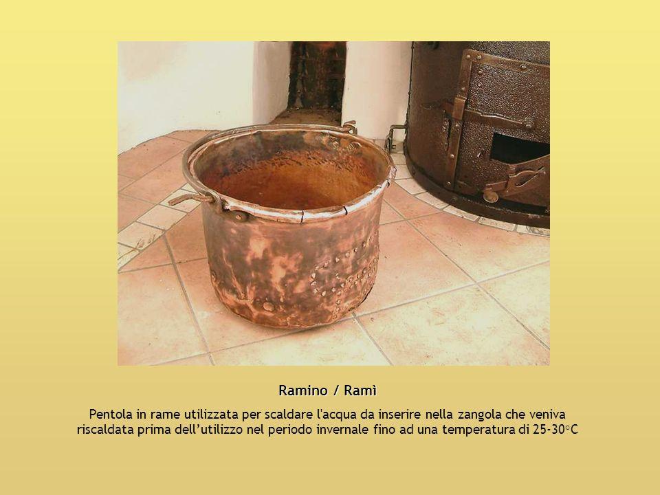 Ramino / Ramì Pentola in rame utilizzata per scaldare l'acqua da inserire nella zangola che veniva riscaldata prima dellutilizzo nel periodo invernale