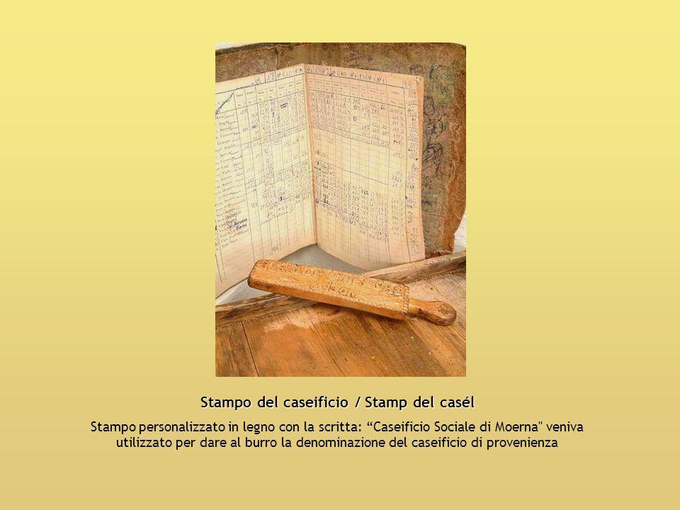 Stampo del caseificio / Stamp del casél Stampo personalizzato in legno con la scritta: Caseificio Sociale di Moerna