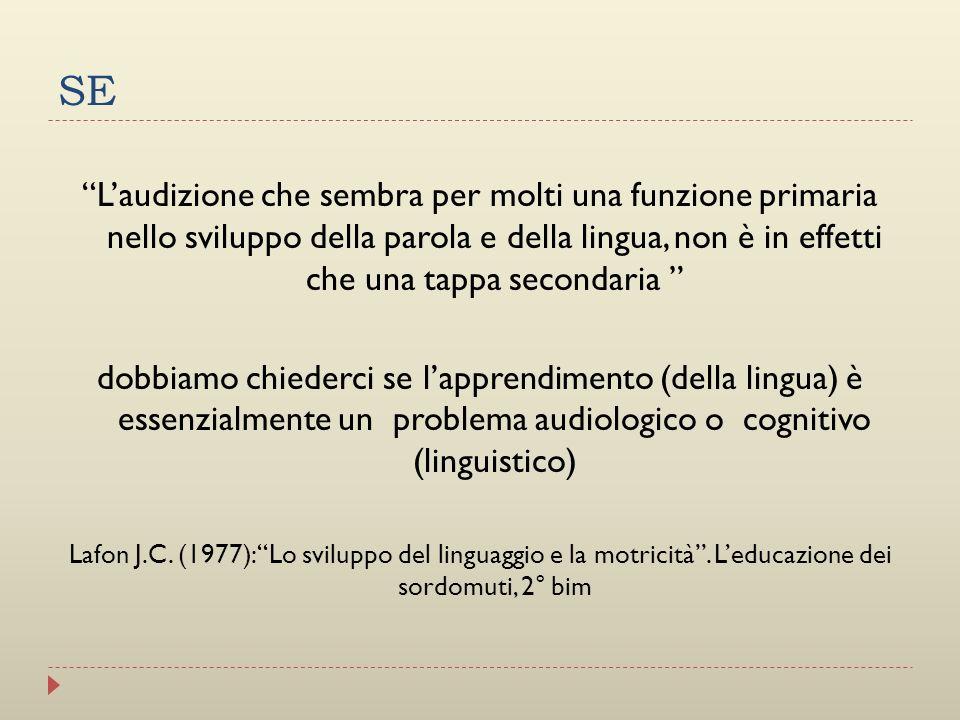 SE Laudizione che sembra per molti una funzione primaria nello sviluppo della parola e della lingua, non è in effetti che una tappa secondaria dobbiam