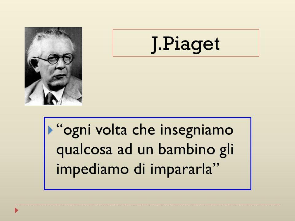 ogni volta che insegniamo qualcosa ad un bambino gli impediamo di impararla J.Piaget