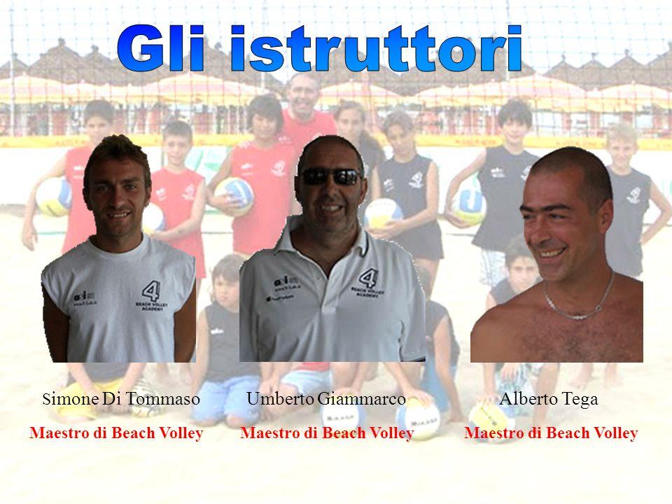 S imone Di Tommaso Umberto Giammarco Alberto Tega Maestro di Beach Volley Maestro di Beach Volley Maestro di Beach Volley