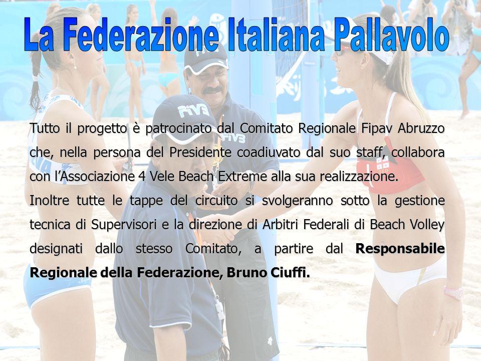 Tutto il progetto è patrocinato dal Comitato Regionale Fipav Abruzzo che, nella persona del Presidente coadiuvato dal suo staff, collabora con lAssoci
