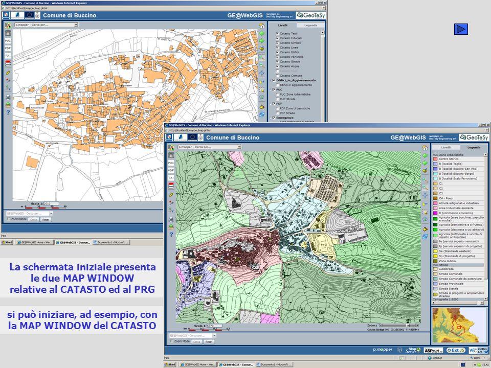 nella MAP WINDOW è presente il quadro dunione dei fogli NCT si seleziona un foglio