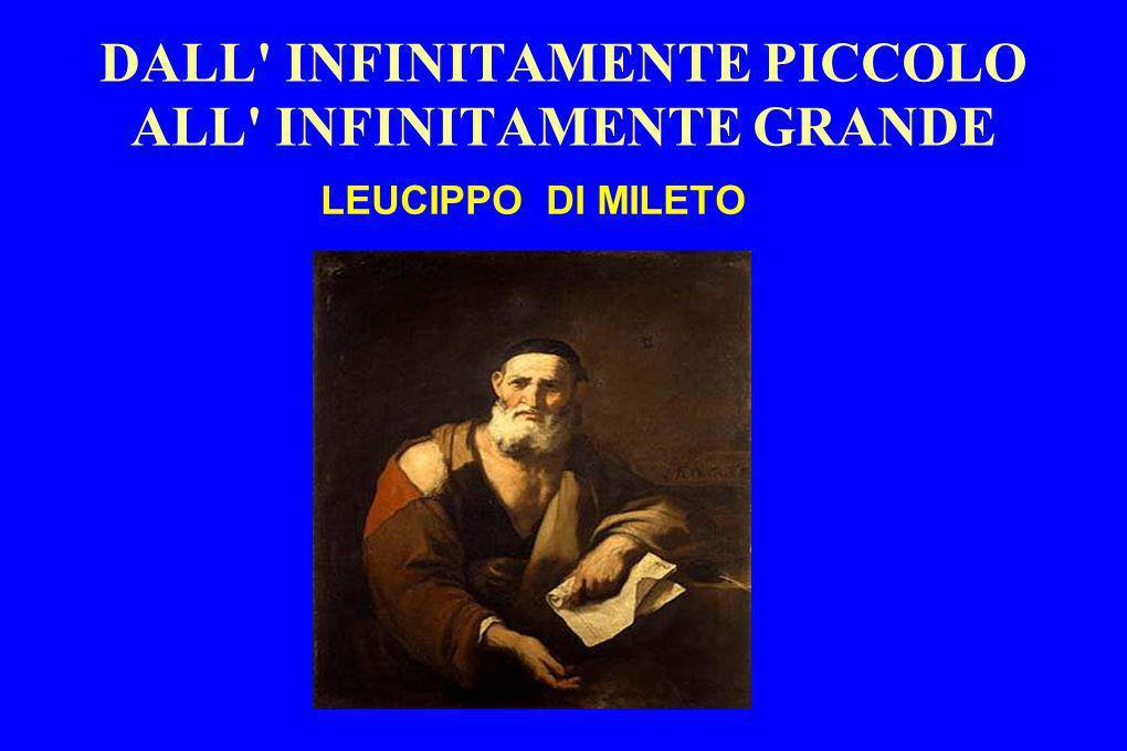 DALL' INFINITAMENTE PICCOLO ALL' INFINITAMENTE GRANDE LEUCIPPO DI MILETO