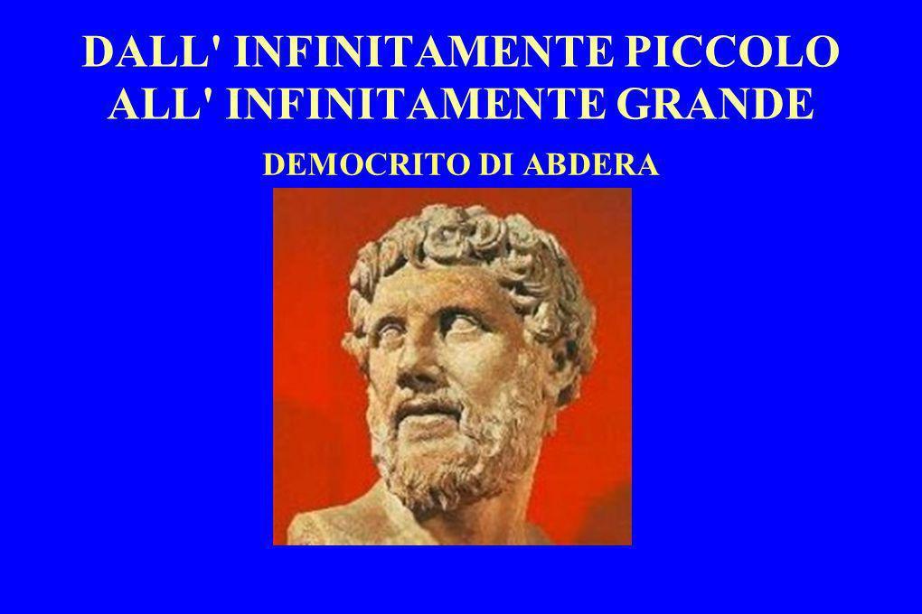 DALL' INFINITAMENTE PICCOLO ALL' INFINITAMENTE GRANDE DEMOCRITO DI ABDERA