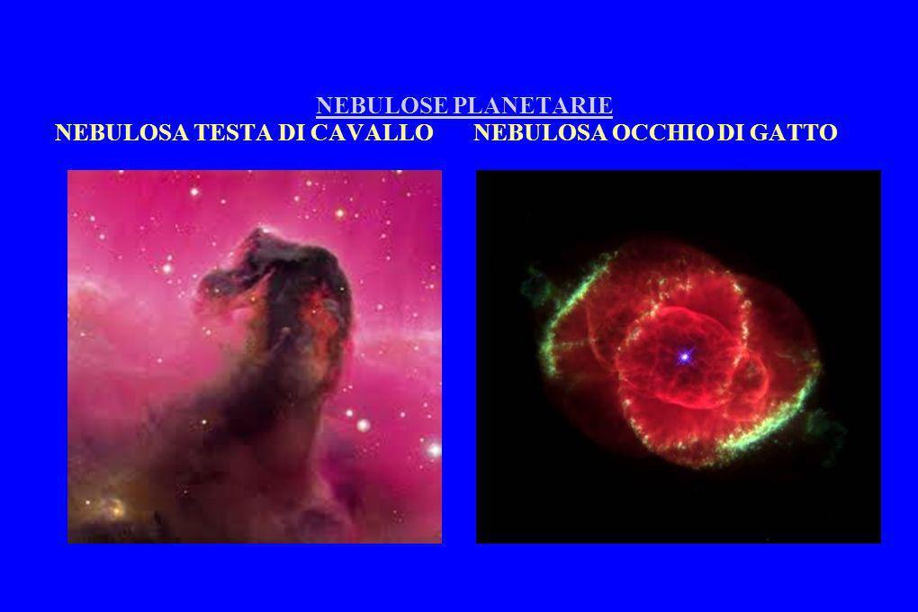 NEBULOSE PLANETARIE NEBULOSA TESTA DI CAVALLO NEBULOSA OCCHIO DI GATTONEBULOSE PLANETARIE