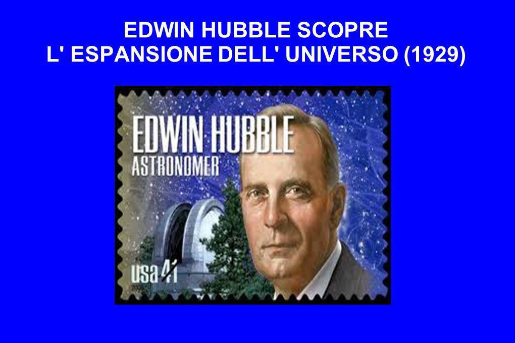 EDWIN HUBBLE SCOPRE L' ESPANSIONE DELL' UNIVERSO (1929)