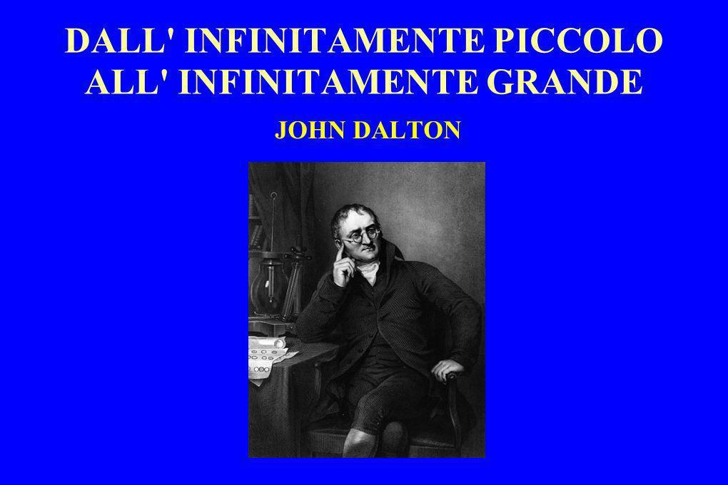DALL' INFINITAMENTE PICCOLO ALL' INFINITAMENTE GRANDE JOHN DALTON