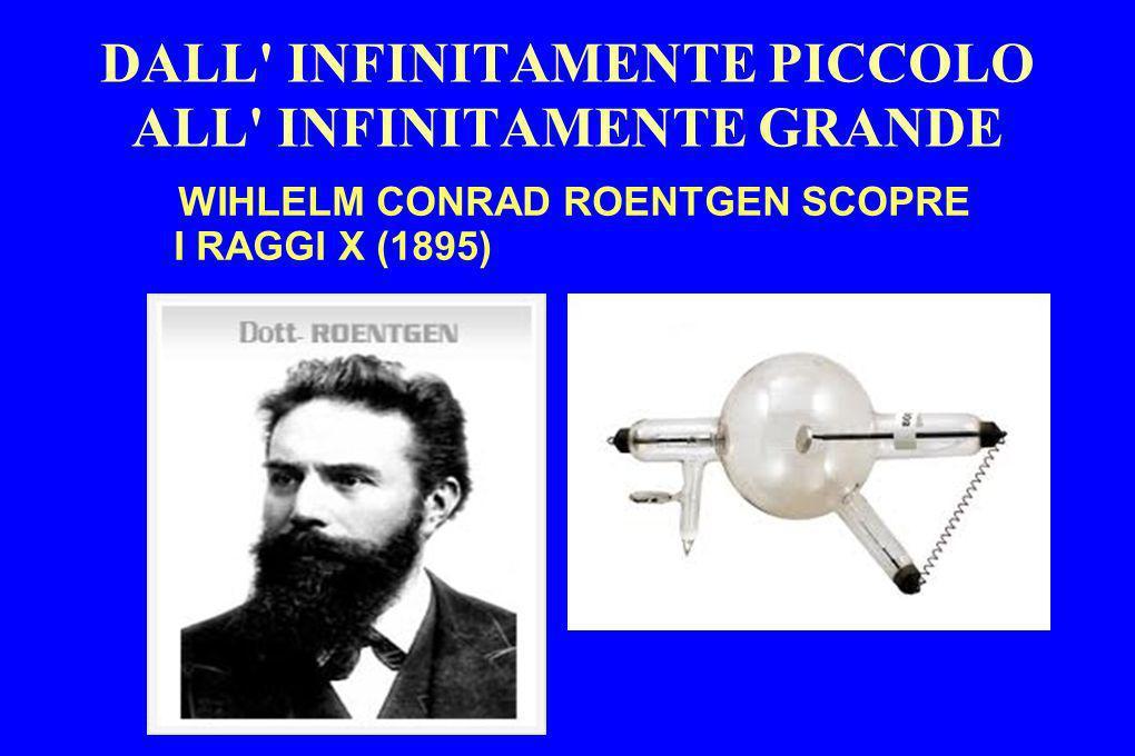DALL' INFINITAMENTE PICCOLO ALL' INFINITAMENTE GRANDE WIHLELM CONRAD ROENTGEN SCOPRE I RAGGI X (1895)