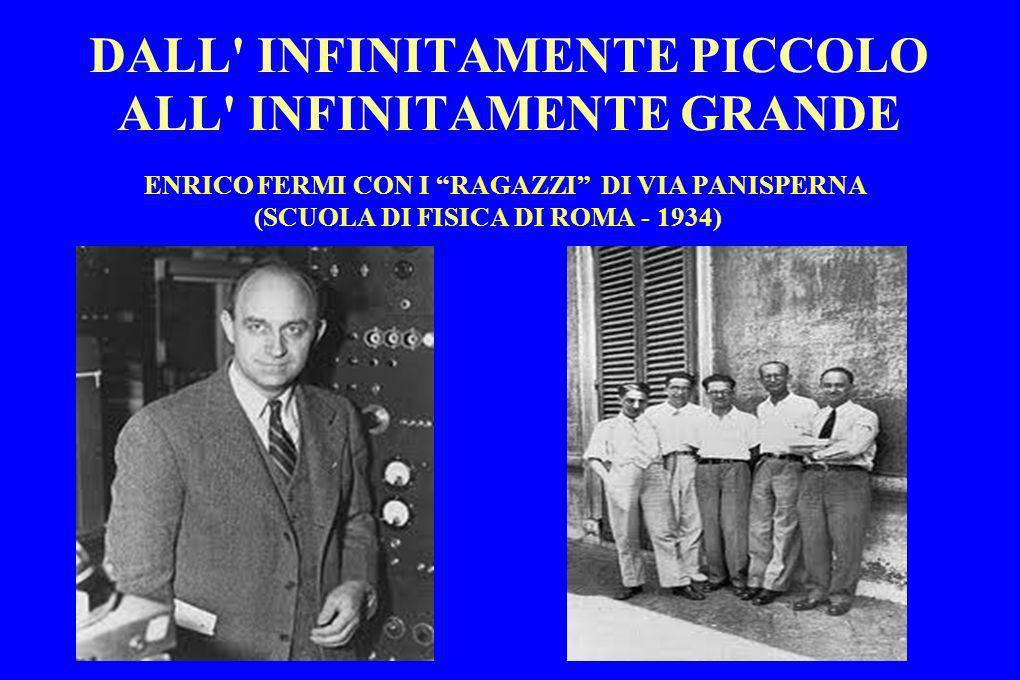 DALL' INFINITAMENTE PICCOLO ALL' INFINITAMENTE GRANDE ENRICO FERMI CON I RAGAZZI DI VIA PANISPERNA (SCUOLA DI FISICA DI ROMA - 1934)