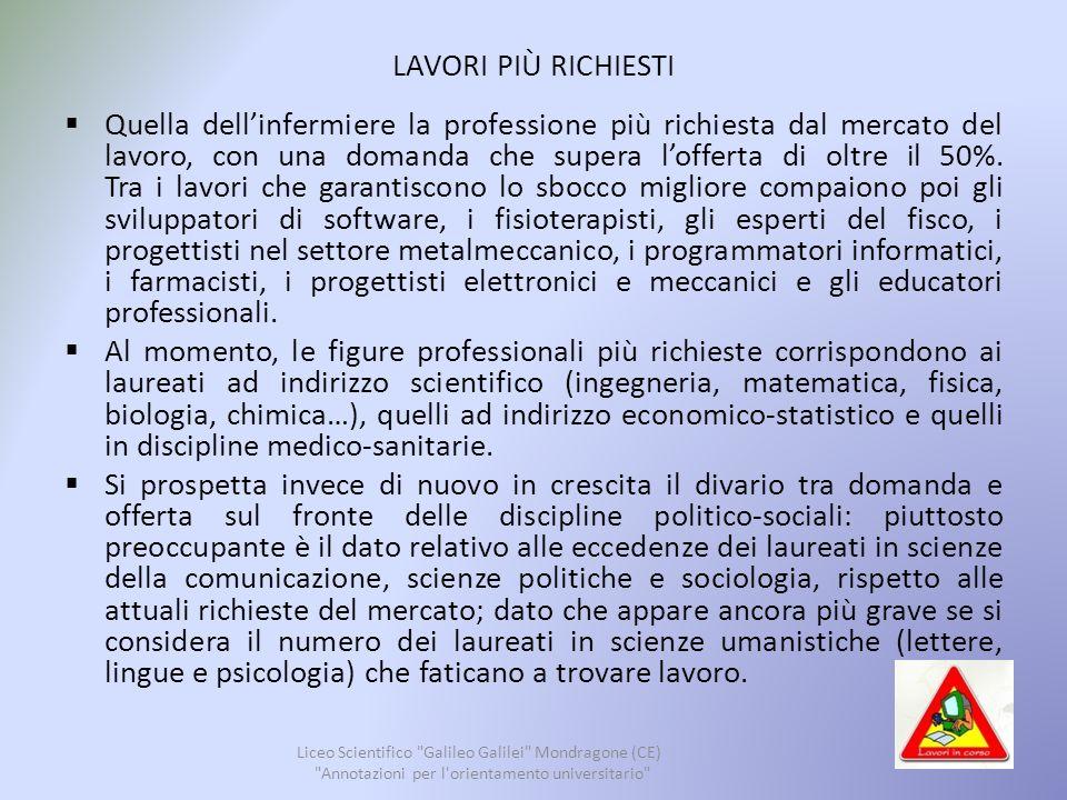 CARRIERA MILITARE Liceo Scientifico Galileo Galilei Mondragone (CE) Annotazioni per l orientamento universitario 40