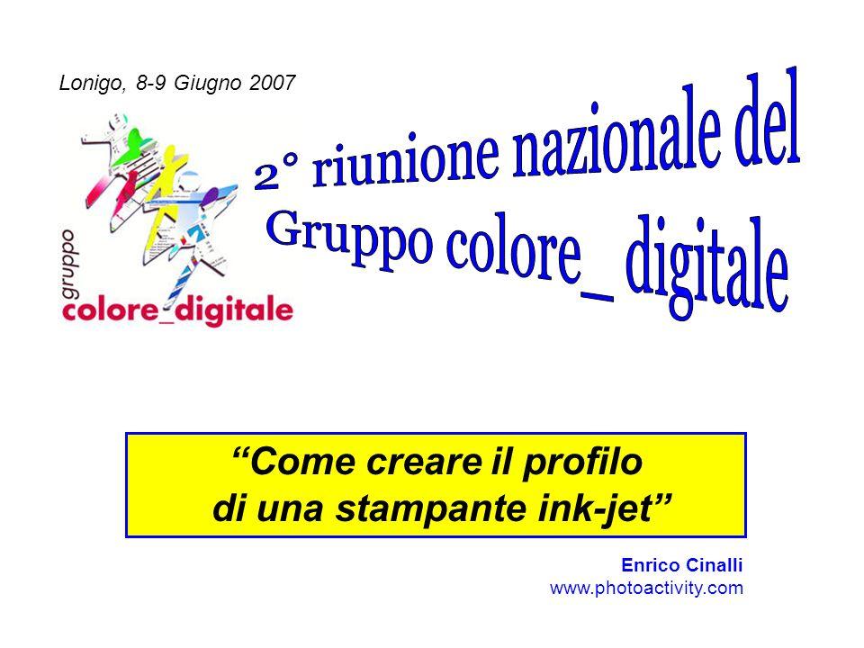 Lonigo, 8 Giugno 20072° Riunione nazionale del Gruppo colore_digitale 32 Considerazioni sulle stampe - 3) Lucidezza -E un parametro sul quale il profilo non ha alcun effetto, dipende dalla fisica dellinchiostro utilizzato.