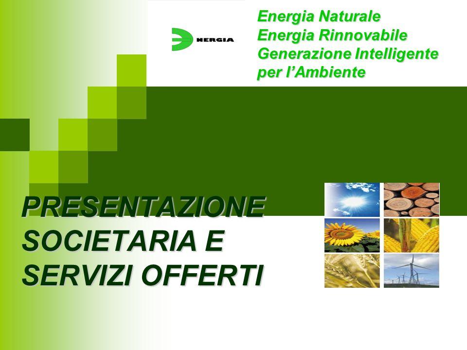 PRESENTAZIONE SOCIETARIA E SERVIZI OFFERTI Energia Naturale Energia Rinnovabile Generazione Intelligente per lAmbiente