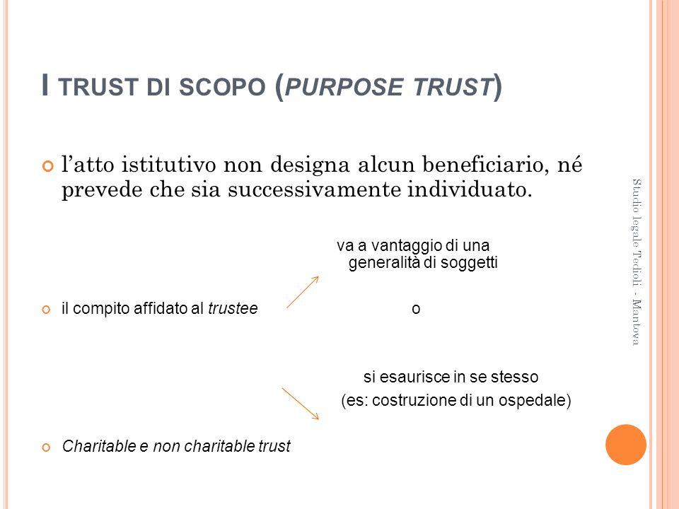 G UARDIANO ( PROTECTOR ) è spesso presente in non charitable purpose trust a protezione dei creditori.