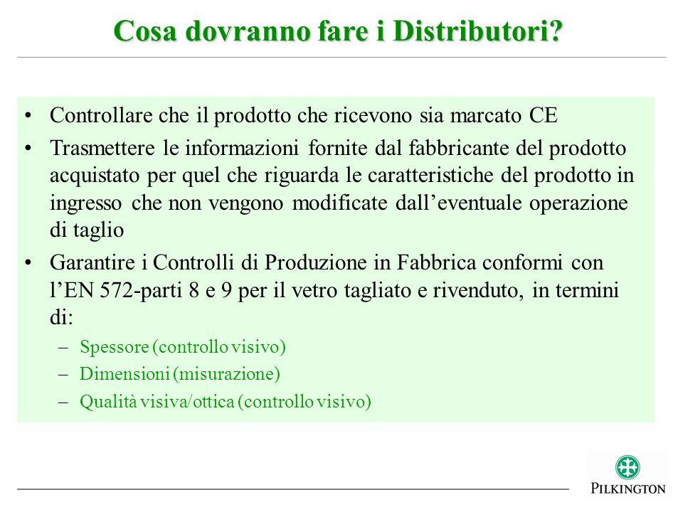 Controllare che il prodotto che ricevono sia marcato CE Trasmettere le informazioni fornite dal fabbricante del prodotto acquistato per quel che rigua