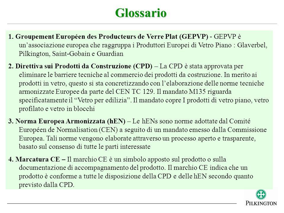 1. Groupement Européen des Producteurs de Verre Plat (GEPVP) - GEPVP è unassociazione europea che raggruppa i Produttori Europei di Vetro Piano : Glav