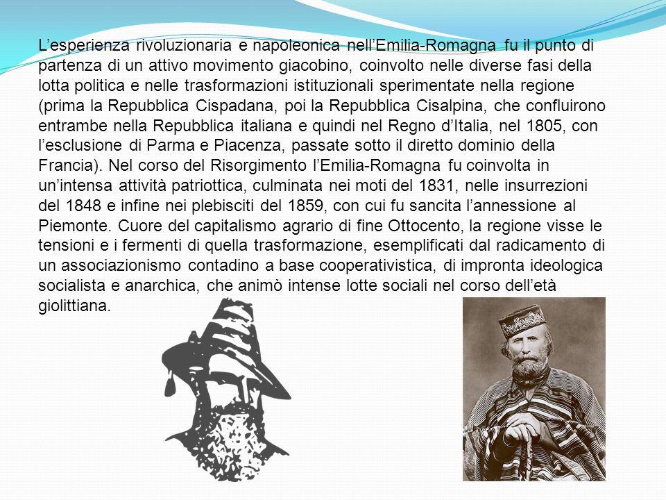 Lesperienza rivoluzionaria e napoleonica nellEmilia-Romagna fu il punto di partenza di un attivo movimento giacobino, coinvolto nelle diverse fasi del