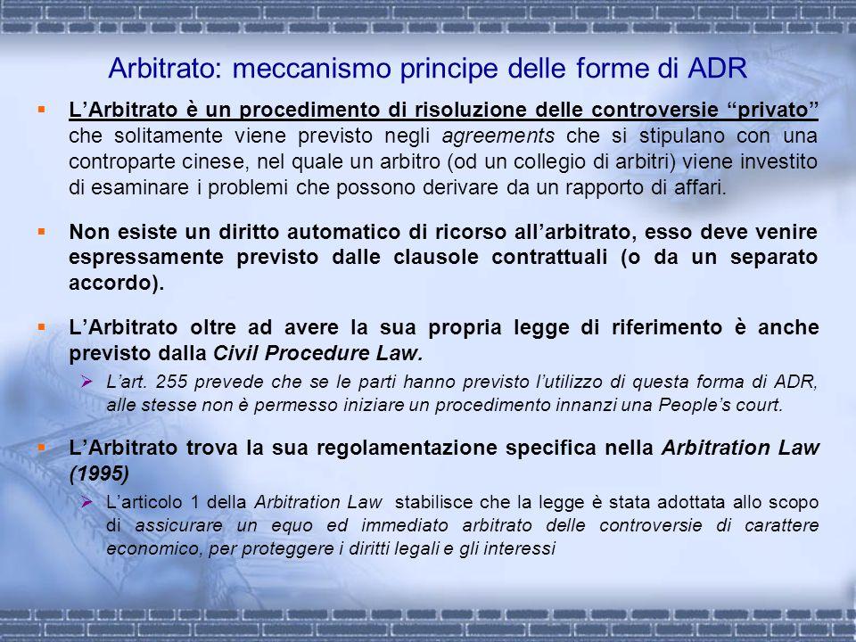 Arbitrato: meccanismo principe delle forme di ADR LArbitrato è un procedimento di risoluzione delle controversie privato che solitamente viene previst
