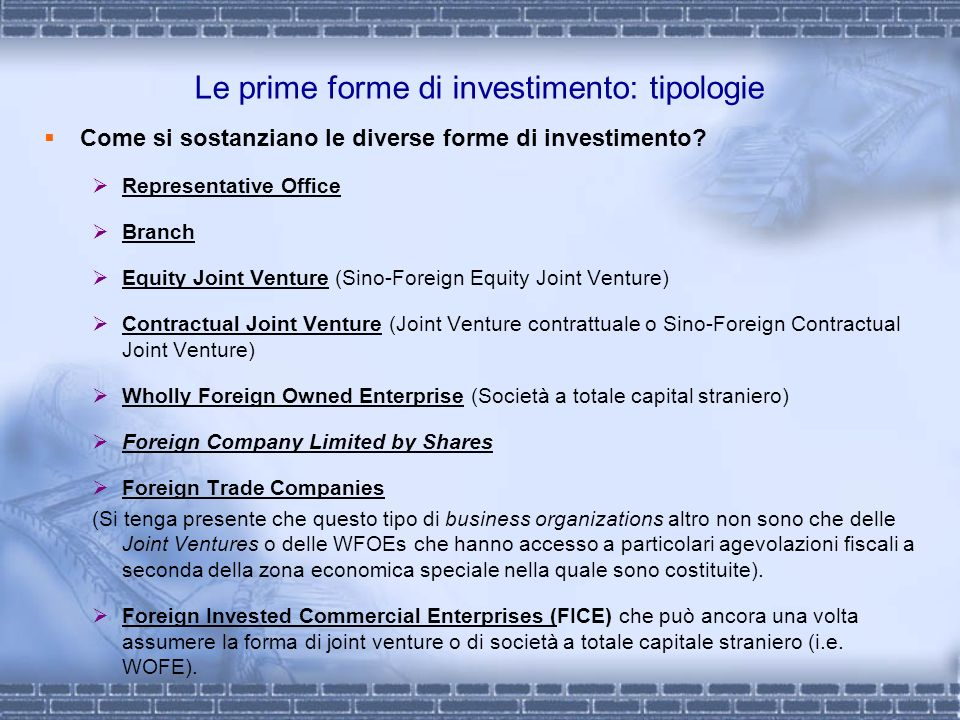 M&A in Cina share swap: definizione secondo le M&A Regulations 2006 The M&A Regulations 2006 defines and standardize the merger and acquisition of equity interest via share swap The expression of merger of domestic company by a foreign investor using its equity to pay mentioned in this Chapter 4 shall refer to that the shareholder of a overseas company, using its equity in the overseas company or using its increased shares of the overseas company to pay, purchase the shareholders equity in a domestic company or purchase the increased shares of a domestic company.