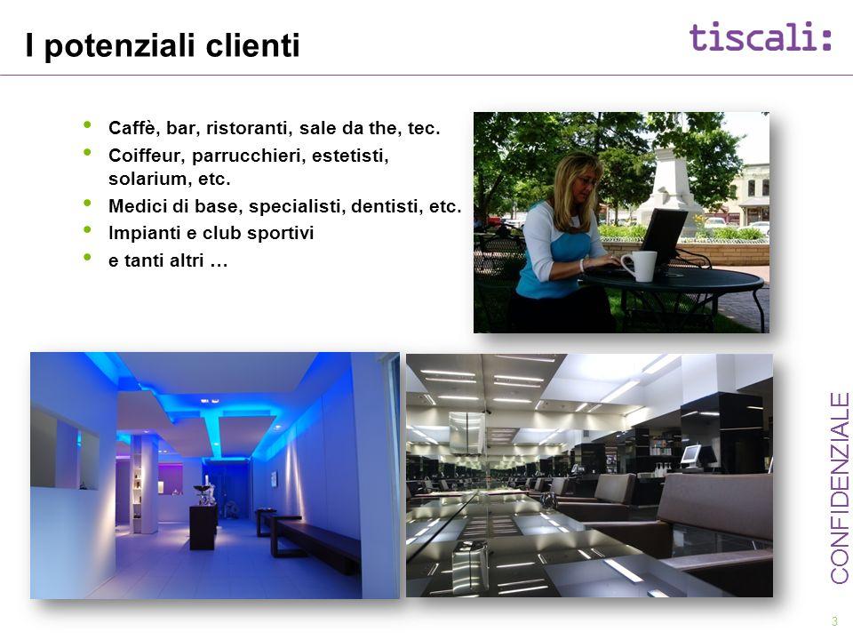 3 CONFIDENZIALE I potenziali clienti Caffè, bar, ristoranti, sale da the, tec. Coiffeur, parrucchieri, estetisti, solarium, etc. Medici di base, speci
