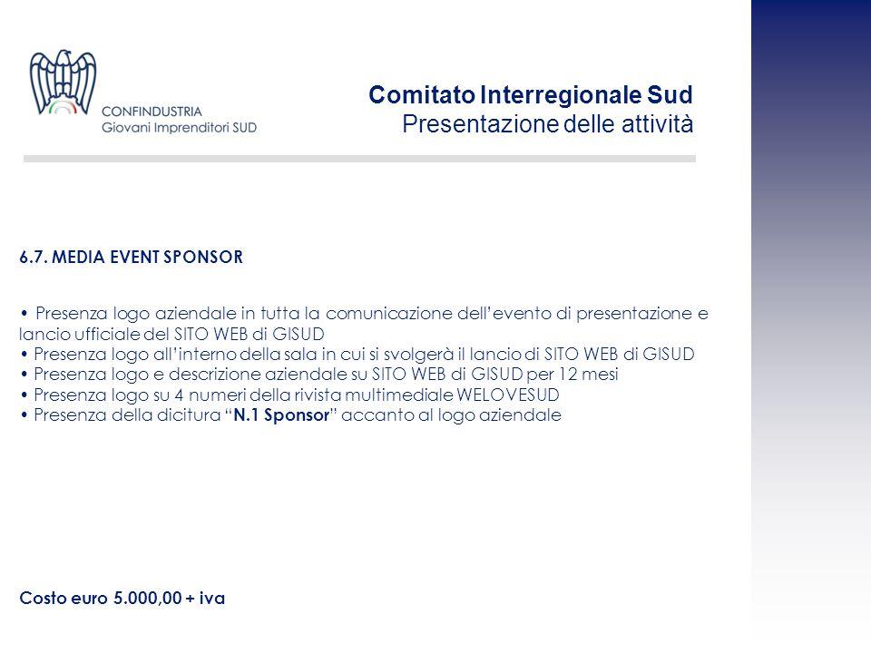 Presenza logo aziendale in tutta la comunicazione dellevento di presentazione e lancio ufficiale del SITO WEB di GISUD Presenza logo allinterno della