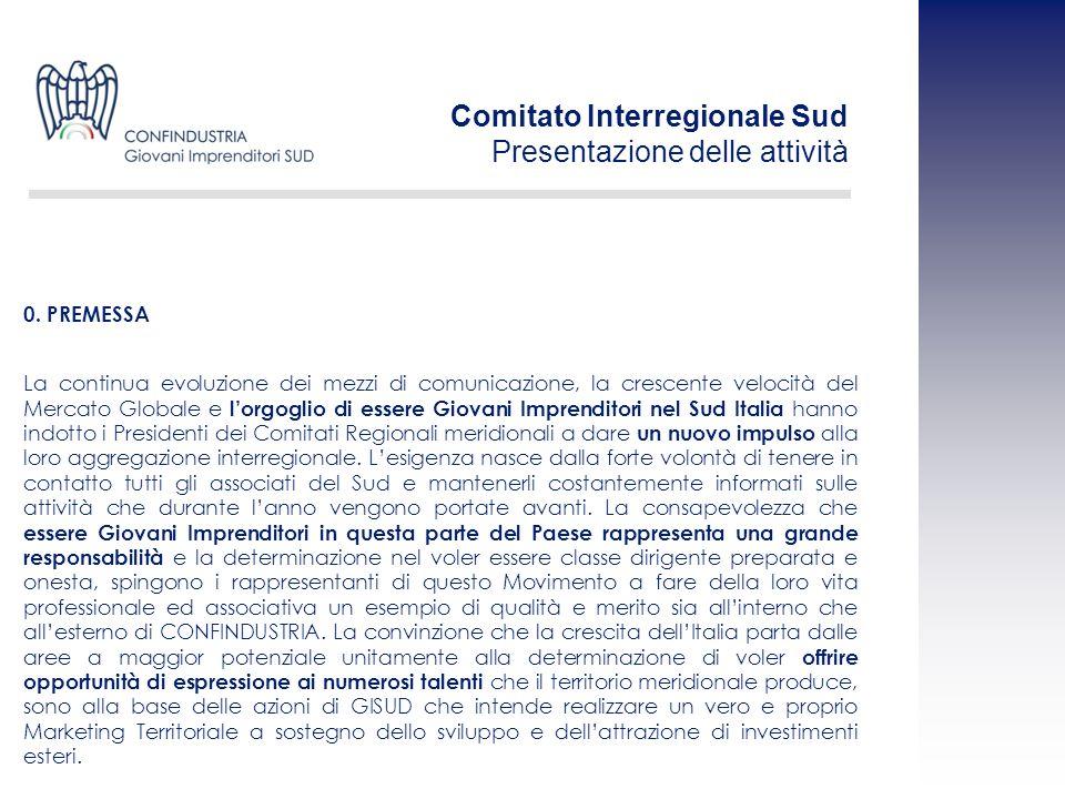 La continua evoluzione dei mezzi di comunicazione, la crescente velocità del Mercato Globale e lorgoglio di essere Giovani Imprenditori nel Sud Italia