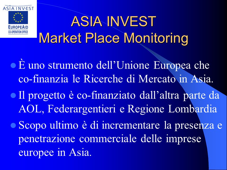 ASIA INVEST Market Place Monitoring: Opportunità in Cina per le Aziende Orafe e Argentiere Italiane Italy-China Goldsmiths – Gold, Silver and Jeweller
