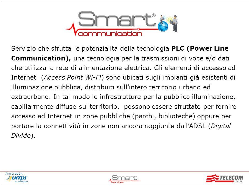 Powered by: Servizio che sfrutta le potenzialità della tecnologia PLC (Power Line Communication), una tecnologia per la trasmissioni di voce e/o dati