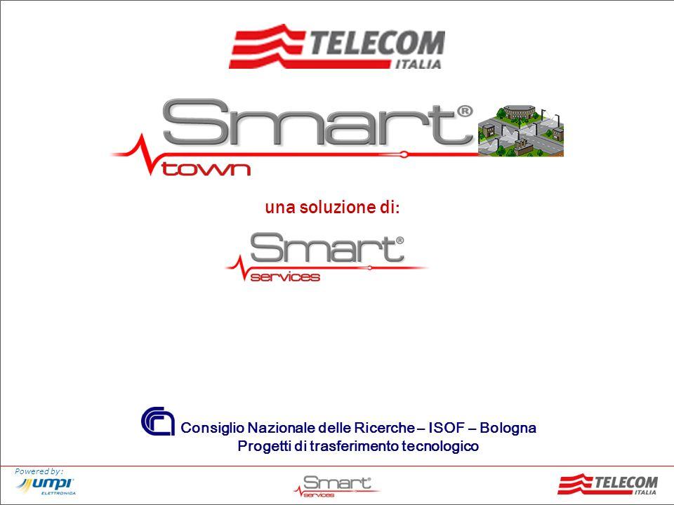 Powered by: Suite di servizi per la gestione intelligente del territorio utilizzando la rete della Pubblica Illuminazione Sistema per la gestione chiamata emergenza: 118, 113, etc.
