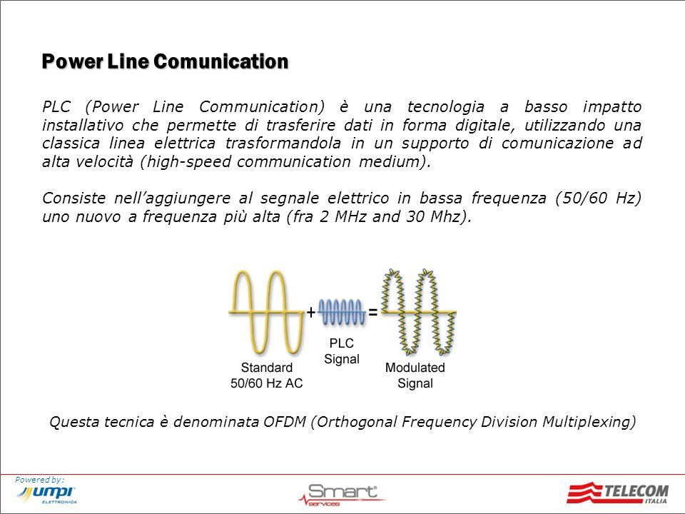 Powered by: Power Line Comunication PLC (Power Line Communication) è una tecnologia a basso impatto installativo che permette di trasferire dati in fo