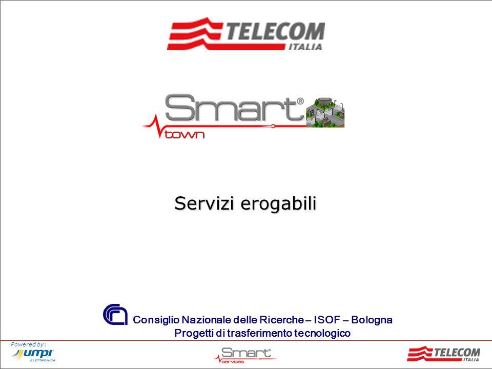 Powered by: Consiglio Nazionale delle Ricerche – ISOF – Bologna Progetti di trasferimento tecnologico Servizi erogabili