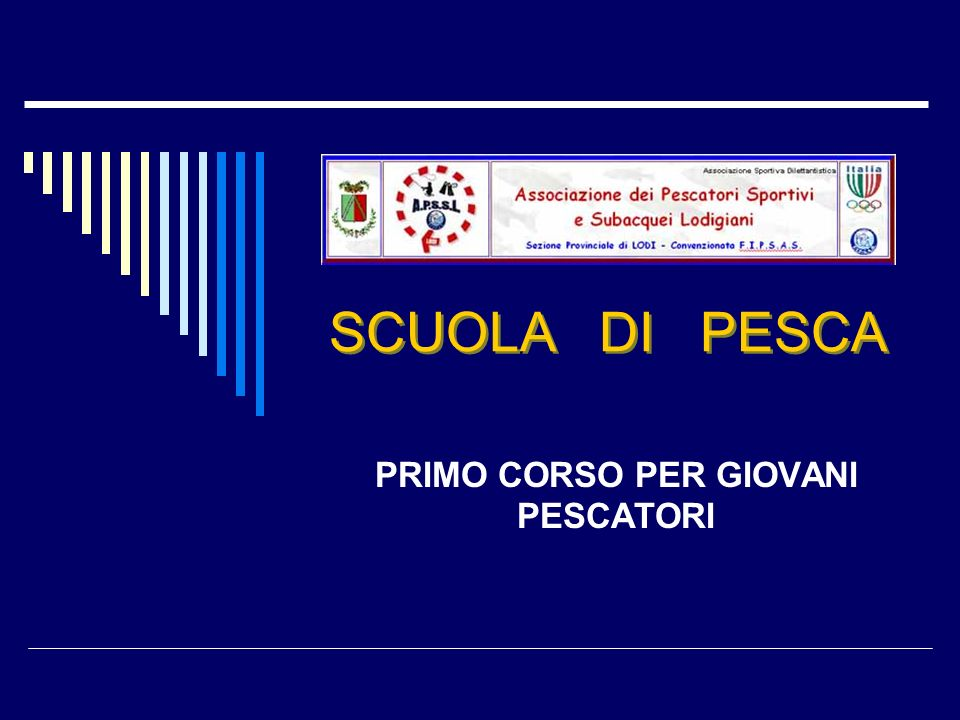 A.P.S.S.L Sezione Provinciale di Lodi convenzionata F.I.P.S.A.S 12 4) Guadino 5) Porta esche: sono disponibili vari modelli a seconda delle esche che si intendono usare;