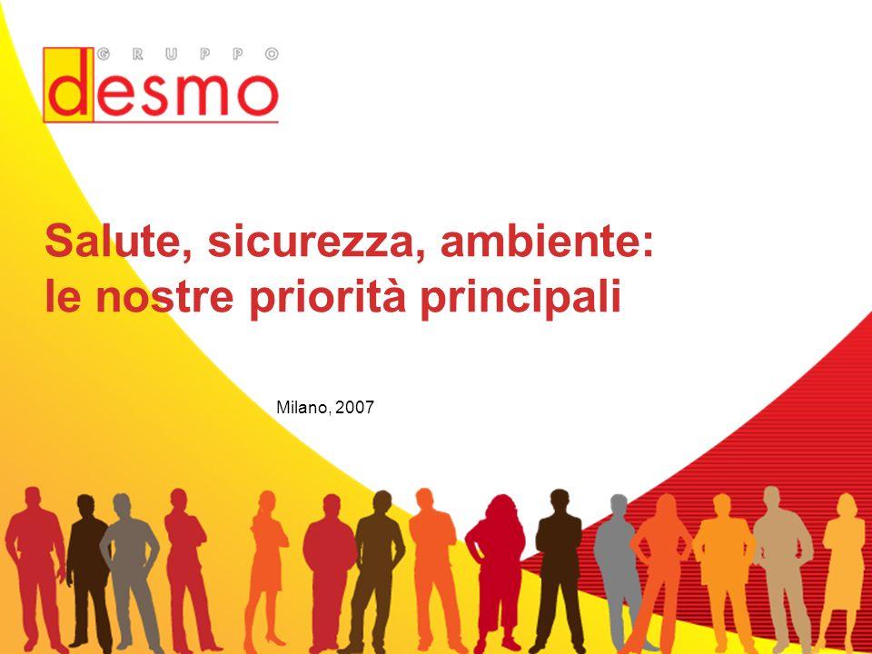 Milano, 2007 Salute, sicurezza, ambiente: le nostre priorità principali