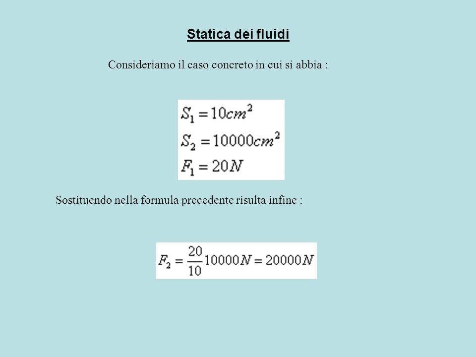 Statica dei fluidi Legge di Stevino.