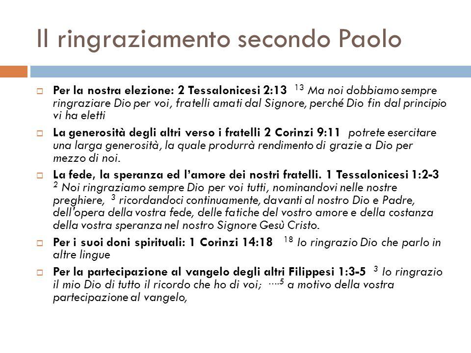 Il ringraziamento secondo Paolo Mentre lottava con il fatto di essere un peccatore che continuava a peccare Romani 7:24-25 24 Me infelice.