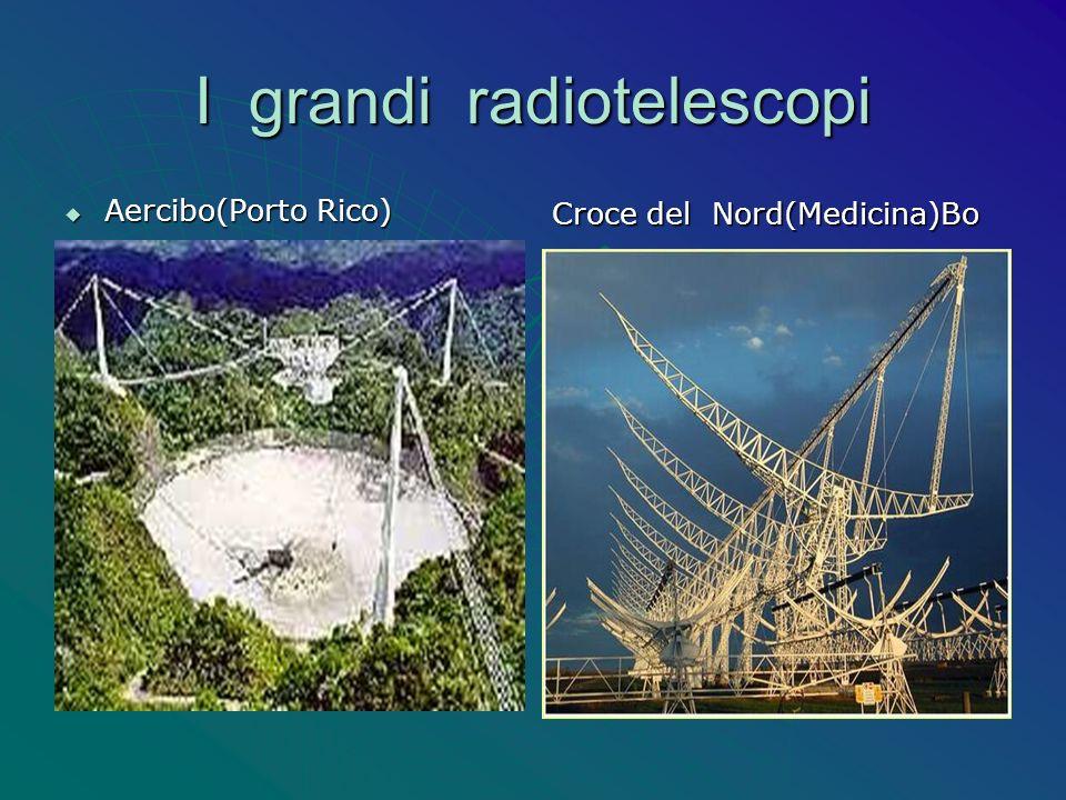 I grandi radiotelescopi Aercibo(Porto Rico) Aercibo(Porto Rico) Croce del Nord(Medicina)Bo