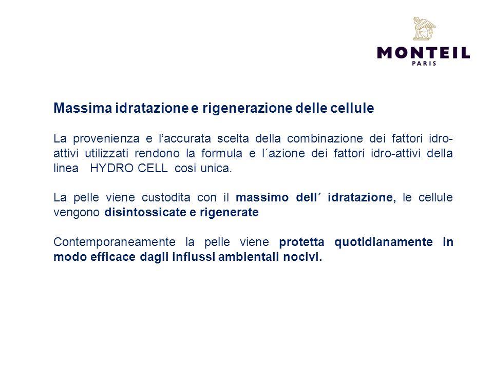 Massima idratazione e rigenerazione delle cellule La provenienza e laccurata scelta della combinazione dei fattori idro- attivi utilizzati rendono la