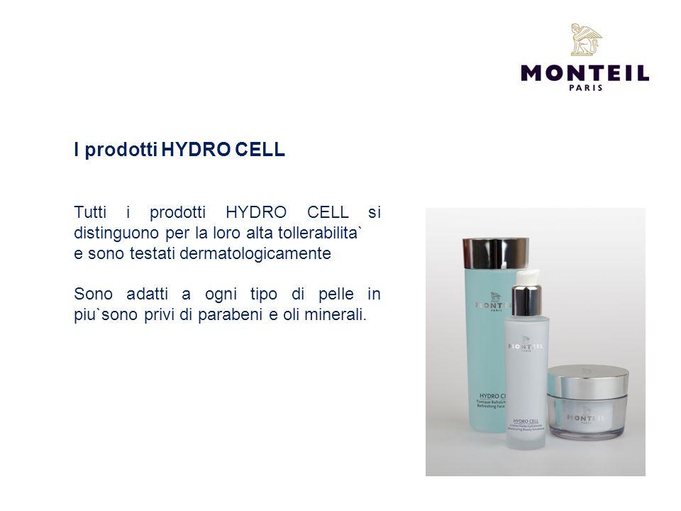 I prodotti HYDRO CELL Tutti i prodotti HYDRO CELL si distinguono per la loro alta tollerabilita` e sono testati dermatologicamente Sono adatti a ogni