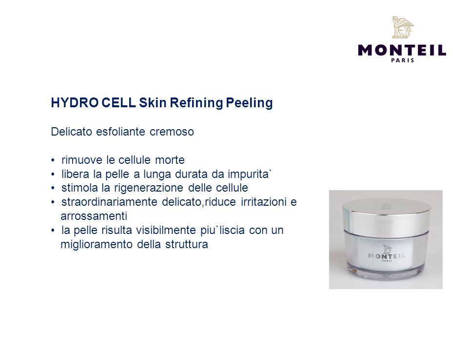 HYDRO CELL Skin Refining Peeling Delicato esfoliante cremoso rimuove le cellule morte libera la pelle a lunga durata da impurita` stimola la rigeneraz