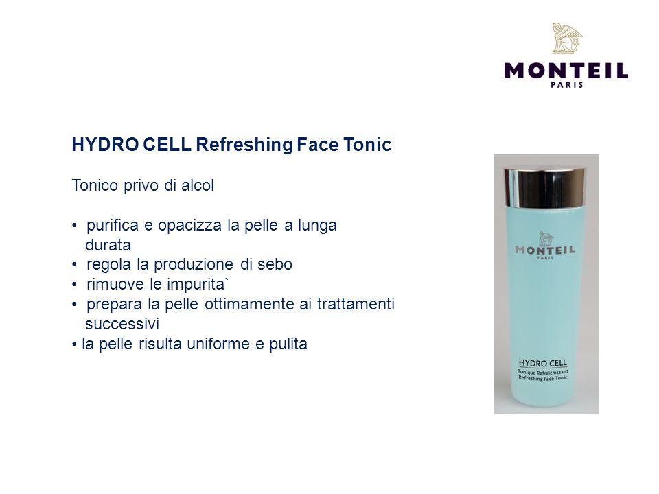 HYDRO CELL Refreshing Face Tonic Tonico privo di alcol purifica e opacizza la pelle a lunga durata regola la produzione di sebo rimuove le impurita` p