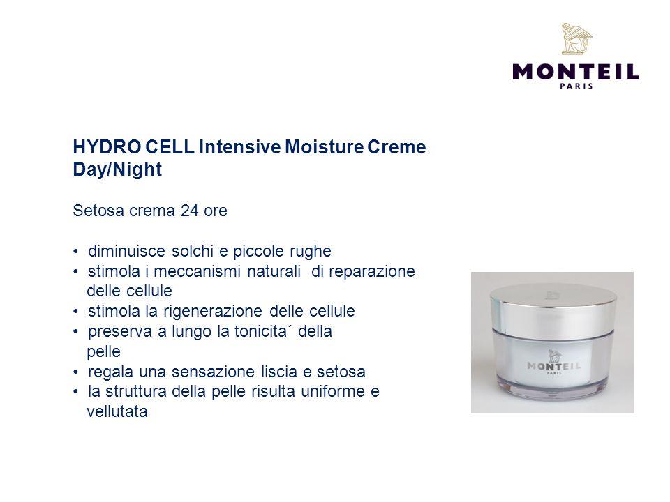 HYDRO CELL Intensive Moisture Creme Day/Night Setosa crema 24 ore diminuisce solchi e piccole rughe stimola i meccanismi naturali di reparazione delle