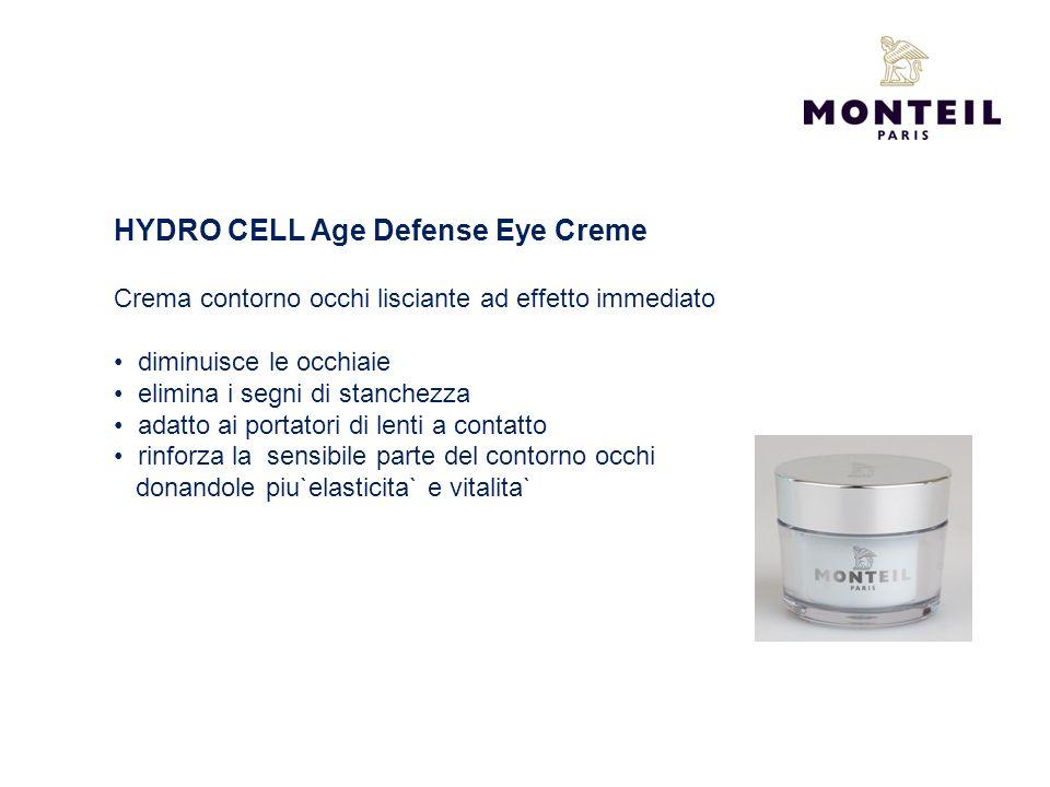 HYDRO CELL Age Defense Eye Creme Crema contorno occhi lisciante ad effetto immediato diminuisce le occhiaie elimina i segni di stanchezza adatto ai po