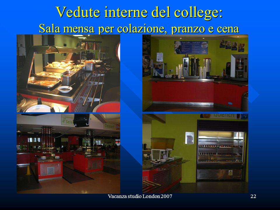 Vacanza studio London 200722 Vedute interne del college: Sala mensa per colazione, pranzo e cena