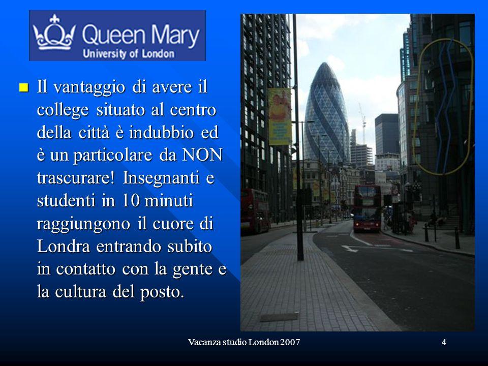 Vacanza studio London 20075 Queen Mary College Campus Map Mappa del campus Mappa del campus