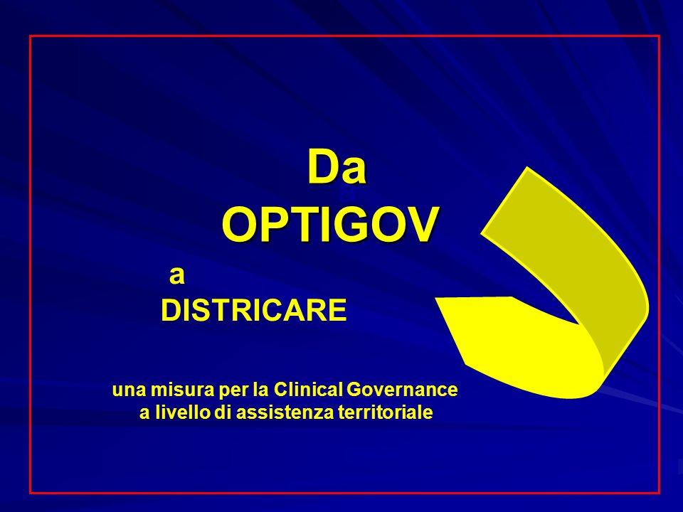 Da OPTIGOV Da OPTIGOV a DISTRICARE a una misura per la Clinical Governance a livello di assistenza territoriale