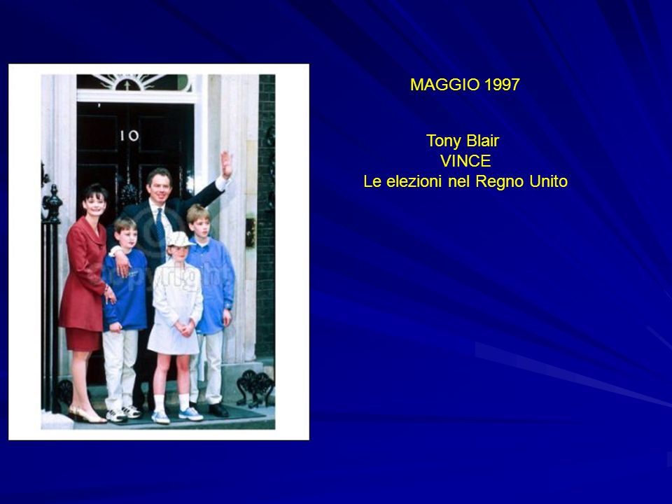 MAGGIO 1997 Tony Blair VINCE Le elezioni nel Regno Unito