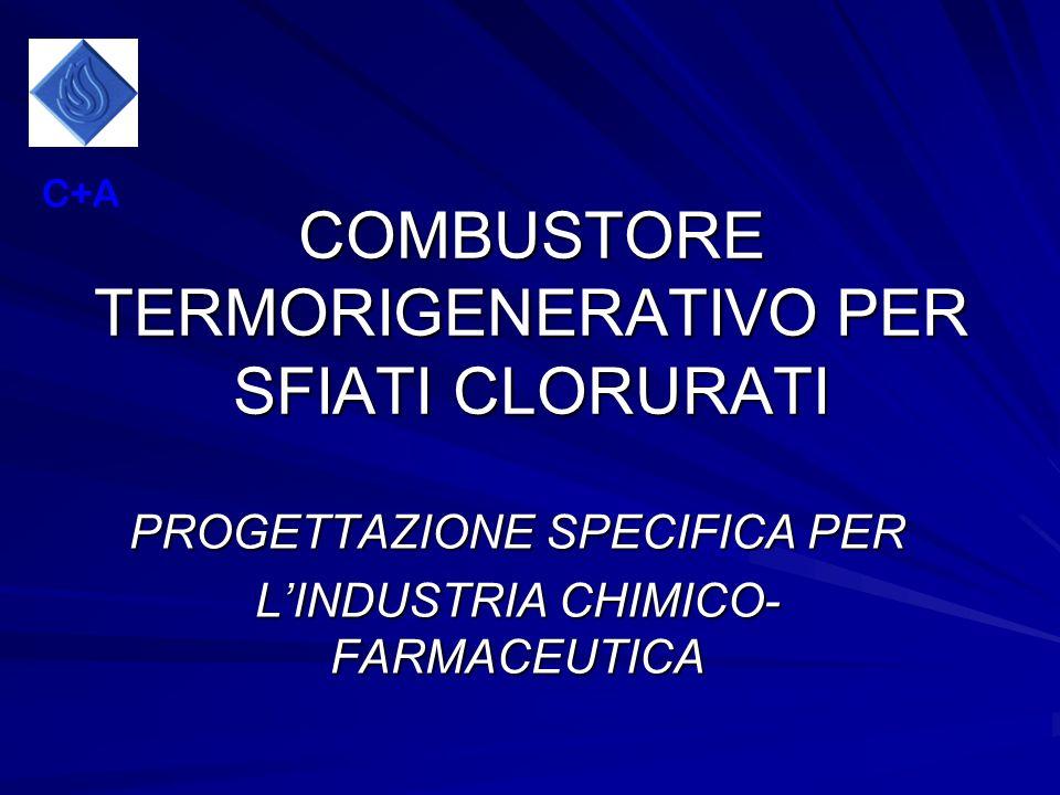 COMBUSTORE TERMORIGENERATIVO PER SFIATI CLORURATI PROGETTAZIONE SPECIFICA PER LINDUSTRIA CHIMICO- FARMACEUTICA C+A